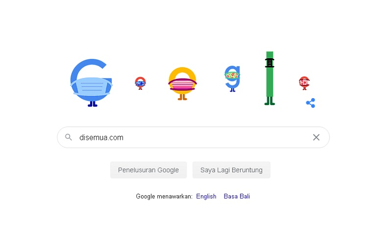 Google Doodle Kampanye Masker dan Physical Distancing