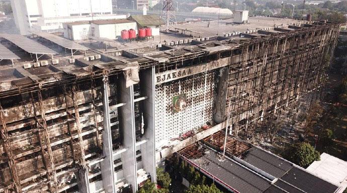 Kebakaran Kejagung Bukan Dari Konsleting Listrik