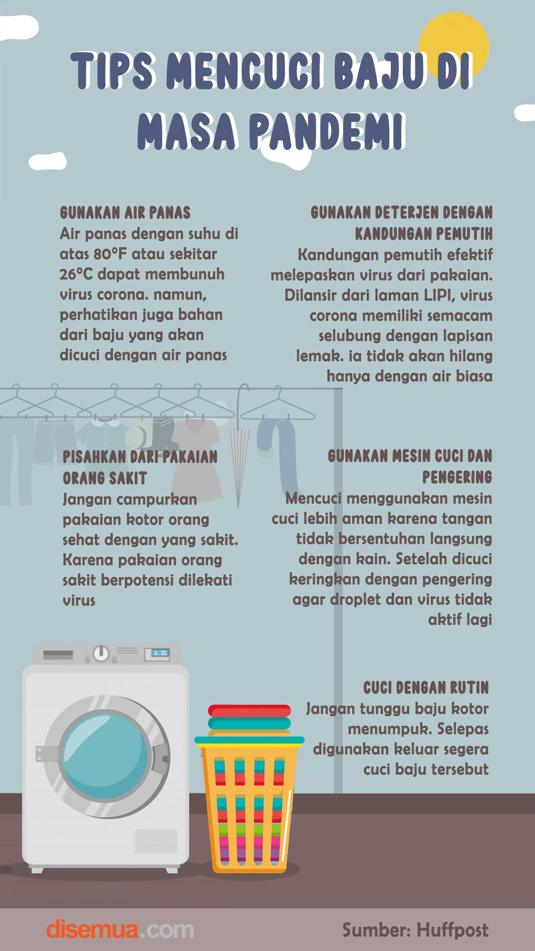 Tips Mencuci Baju di Masa Pandemi