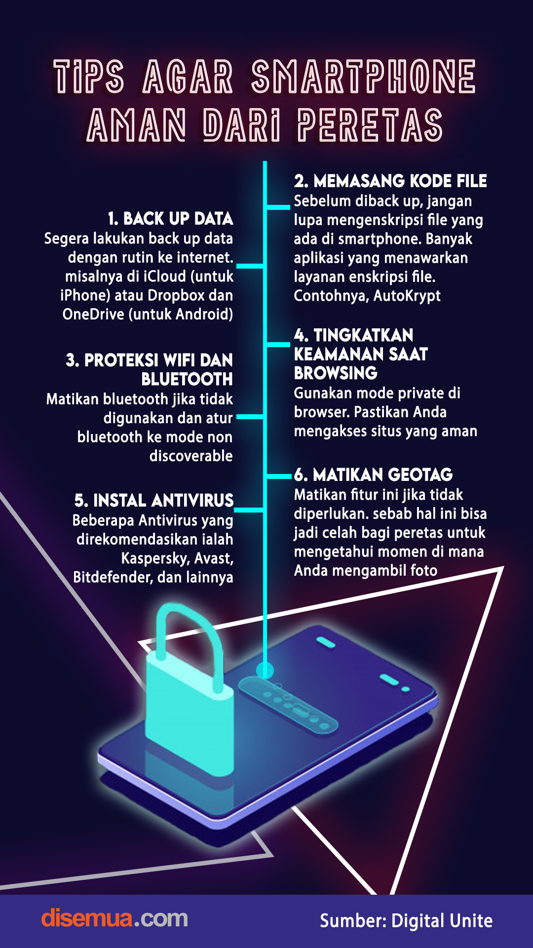 Tips Agar Smartphone Aman dari Peretas
