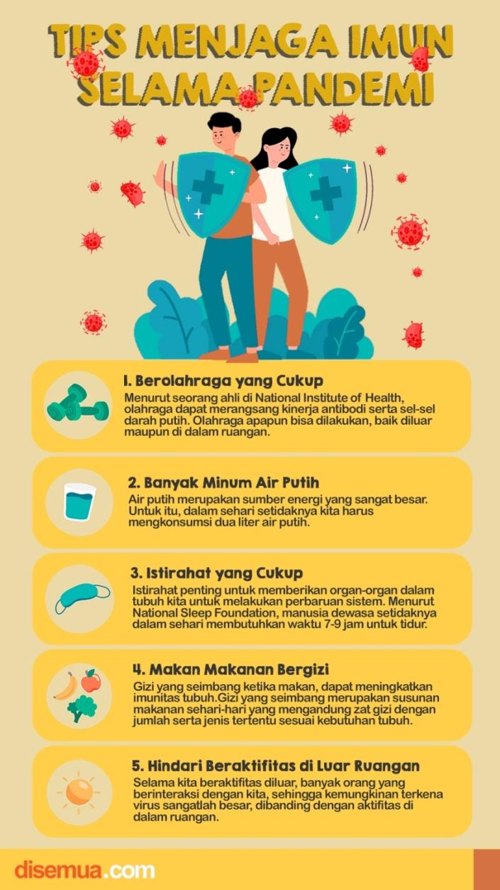 Tips Menjaga Imun di Masa Pandemi