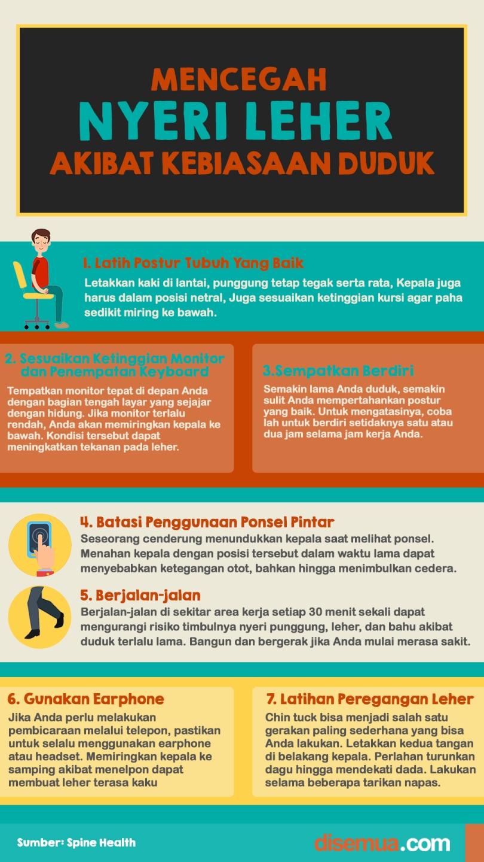 Mencegah Nyeri Leher Akibat Kebiasaan Duduk