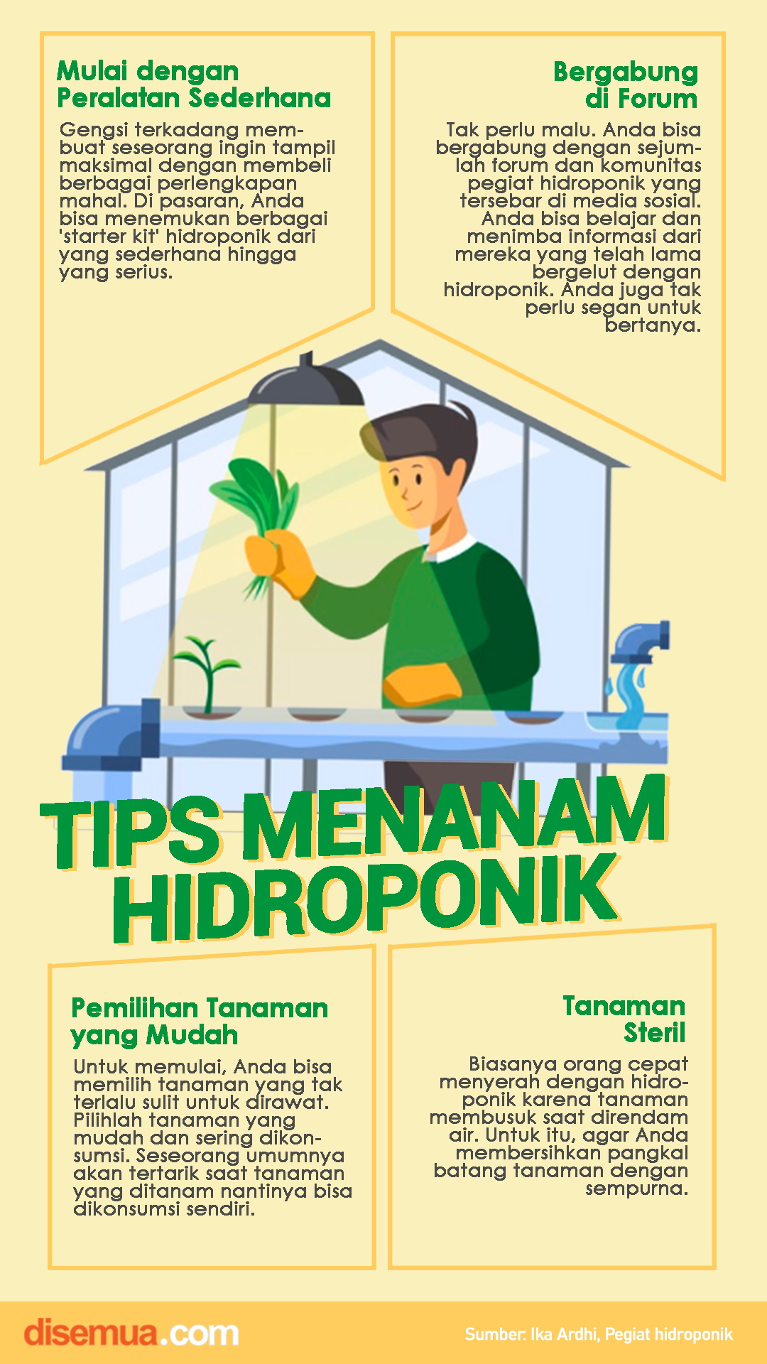 Tips Menanam Hidroponik