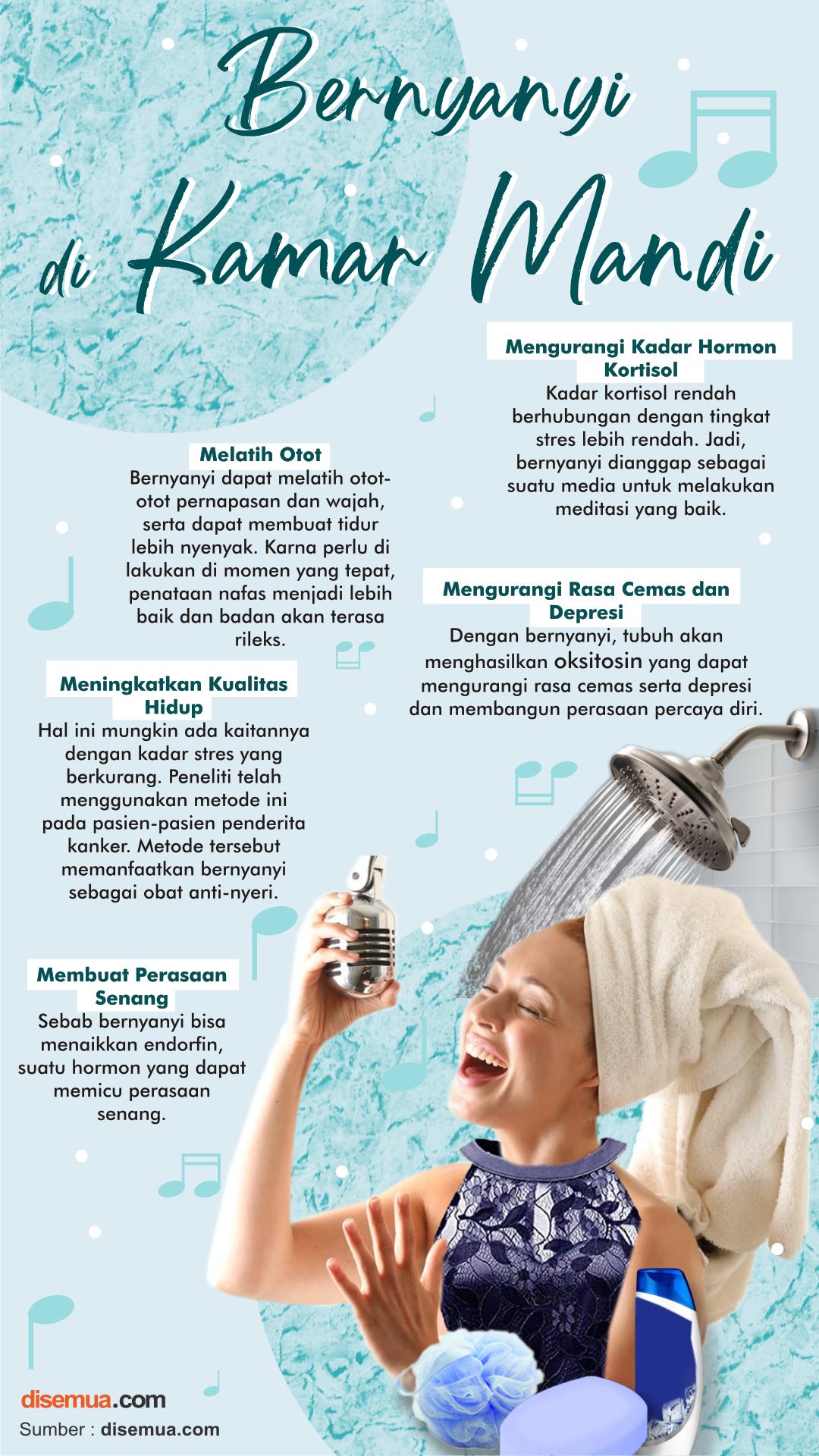 Manfaat Bernyanyi di Kamar Mandi
