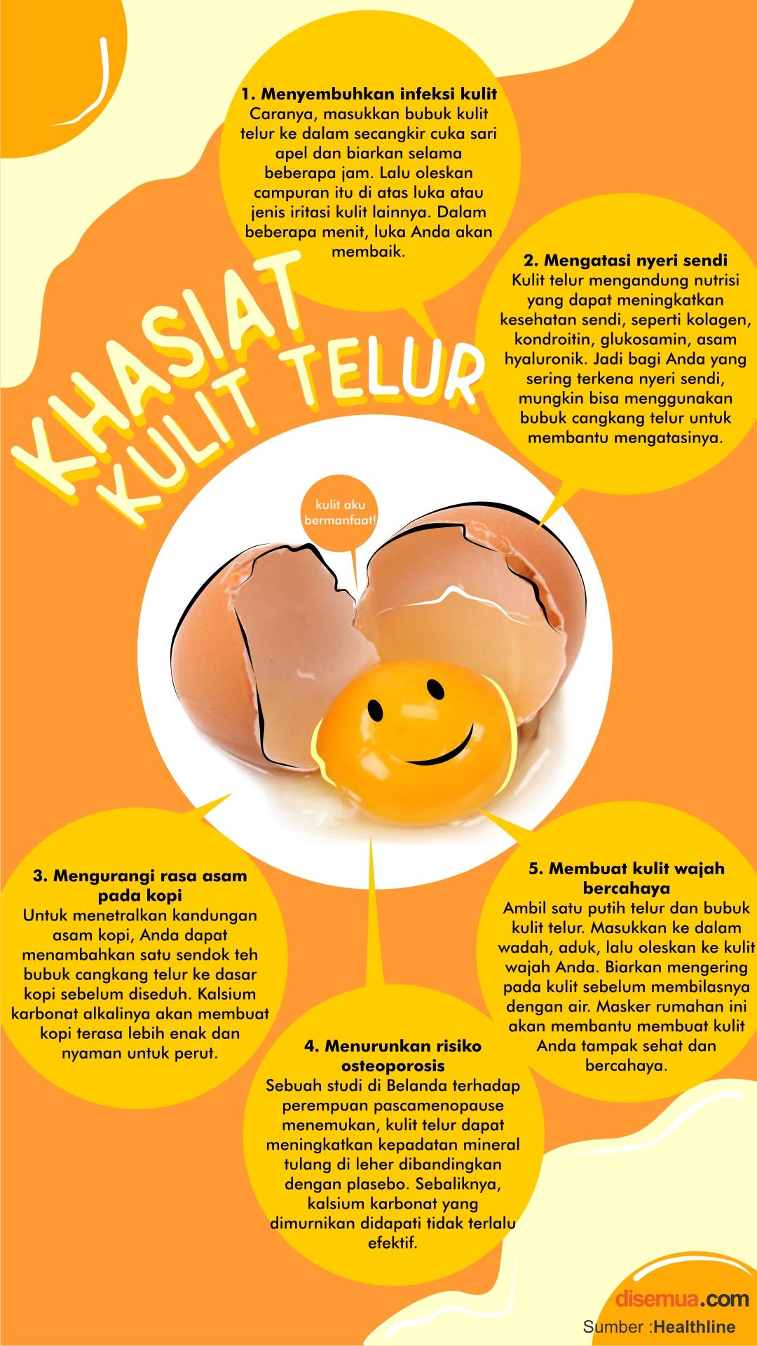 khasiat Kulit Telur