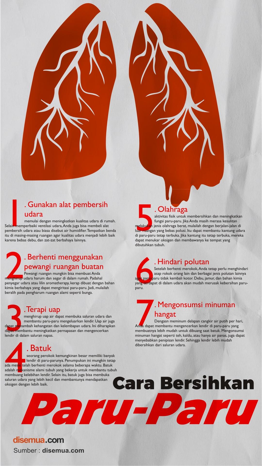Cara Bersihkan Paru-paru