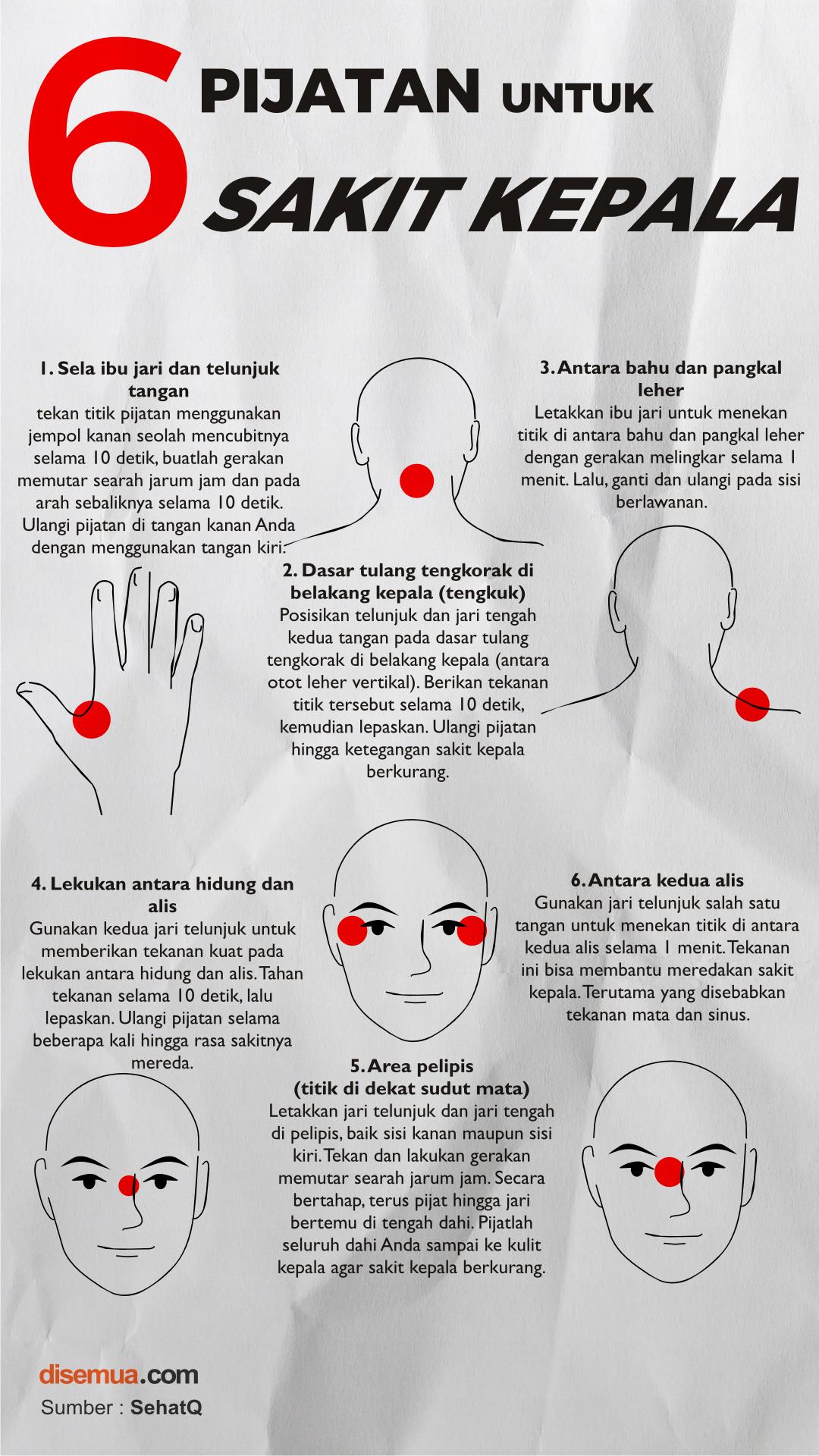 6 Pijatan untuk Sakit Kepala