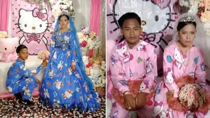 Pernikahan Hello Kitty Viral Hingga Luar Negeri