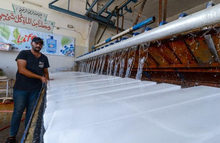 Pabrik Es Menjamur di Irak